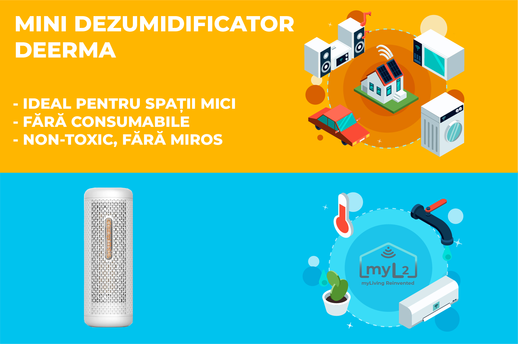 mini dezumidificator deerma xiaomi