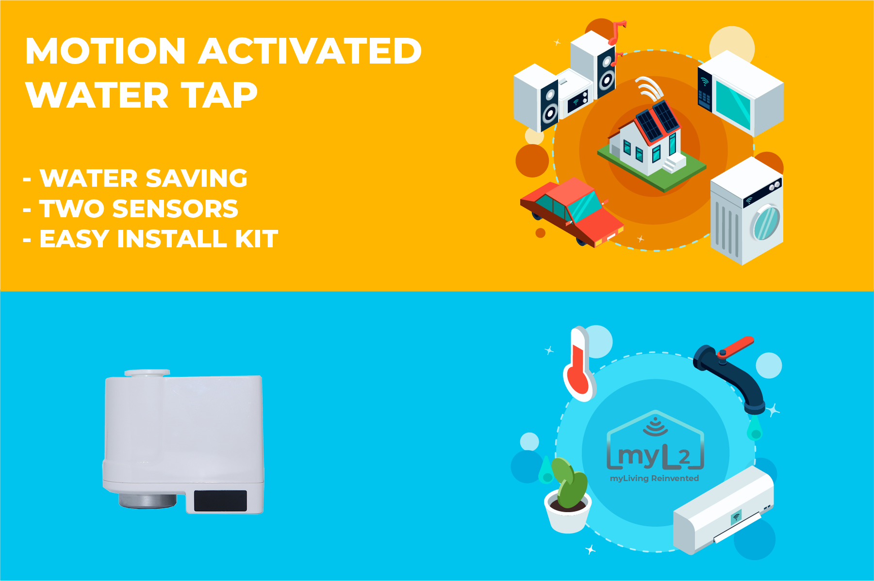motion activated water saving tap xiaomi xiaoda
