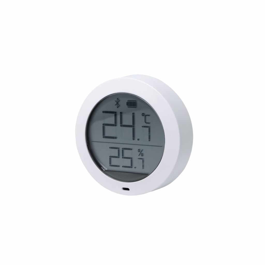 senzor de temperatura umiditate cu afisaj lcd bluetooth rotund xiaomi aqara