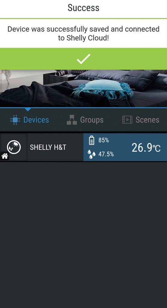 shelly cloud application temperature humidity wifi setup tutorial instalare