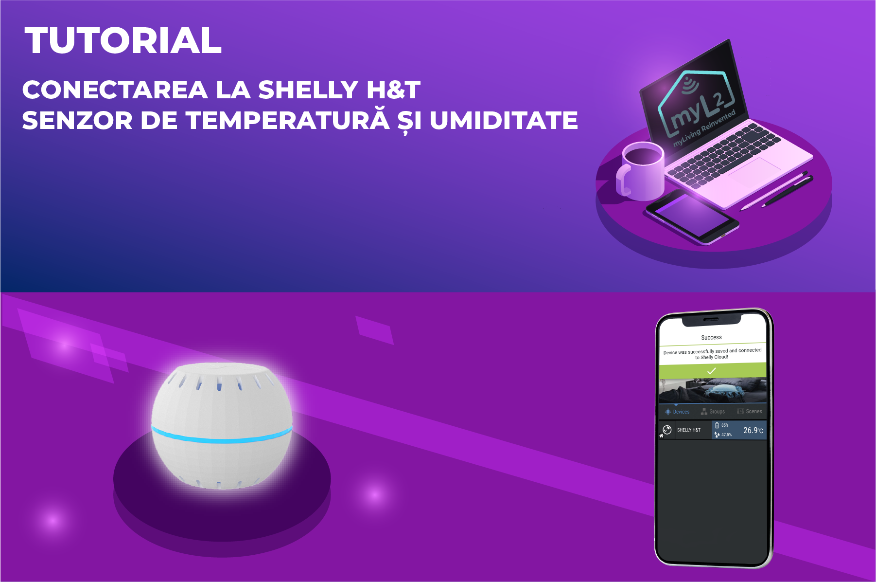 tutorial senzor de temperatura umiditate wifi shelly