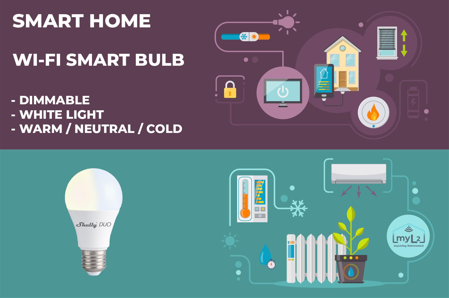 wifi smart bulb shelly duo e27 9w xiaomi aqara