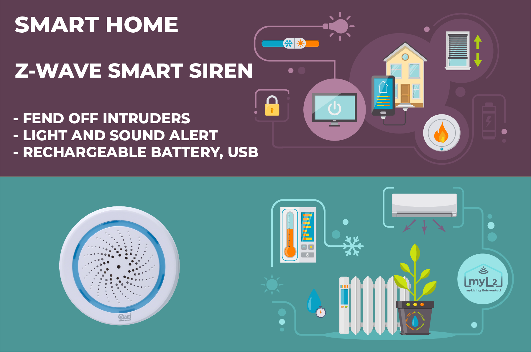 zwave smart siren neo coolcam