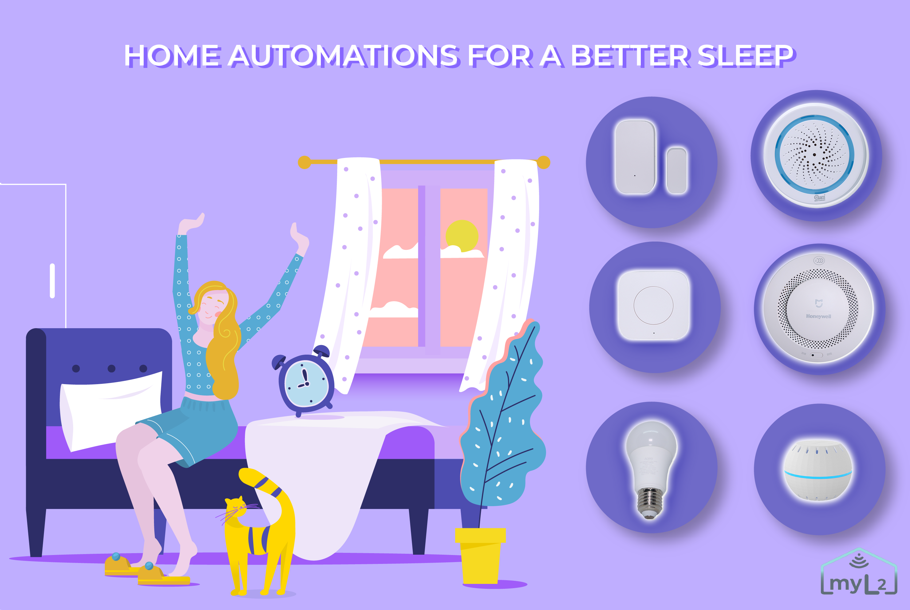 home automations for a better sleep smart sensors bulbs