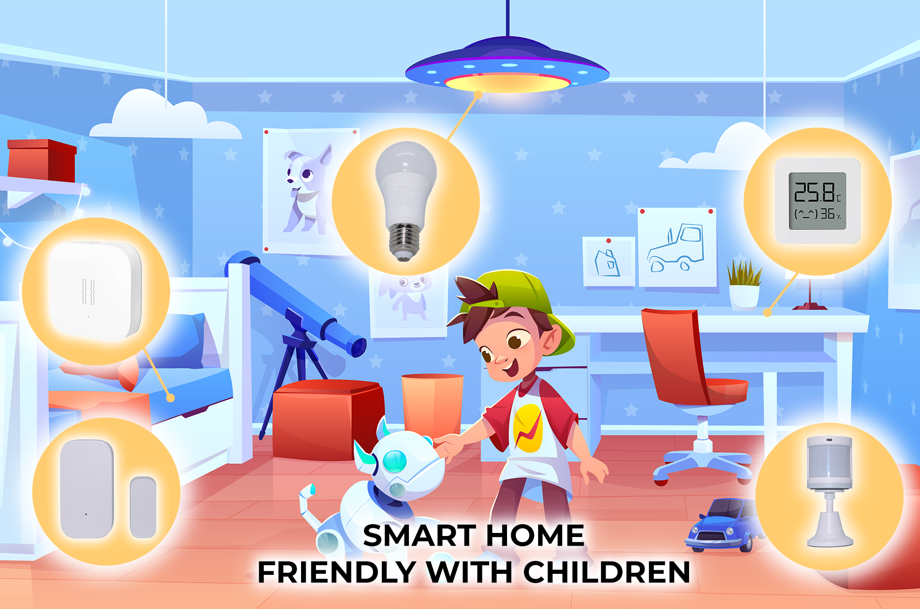 smart home friendly with children