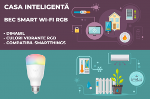 bec inteligent smart xiaomi yeelight e27 8.5w rgb wifi smartthings