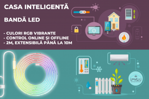 banda led smart wifi rgb extensibila xiaomi yeelight