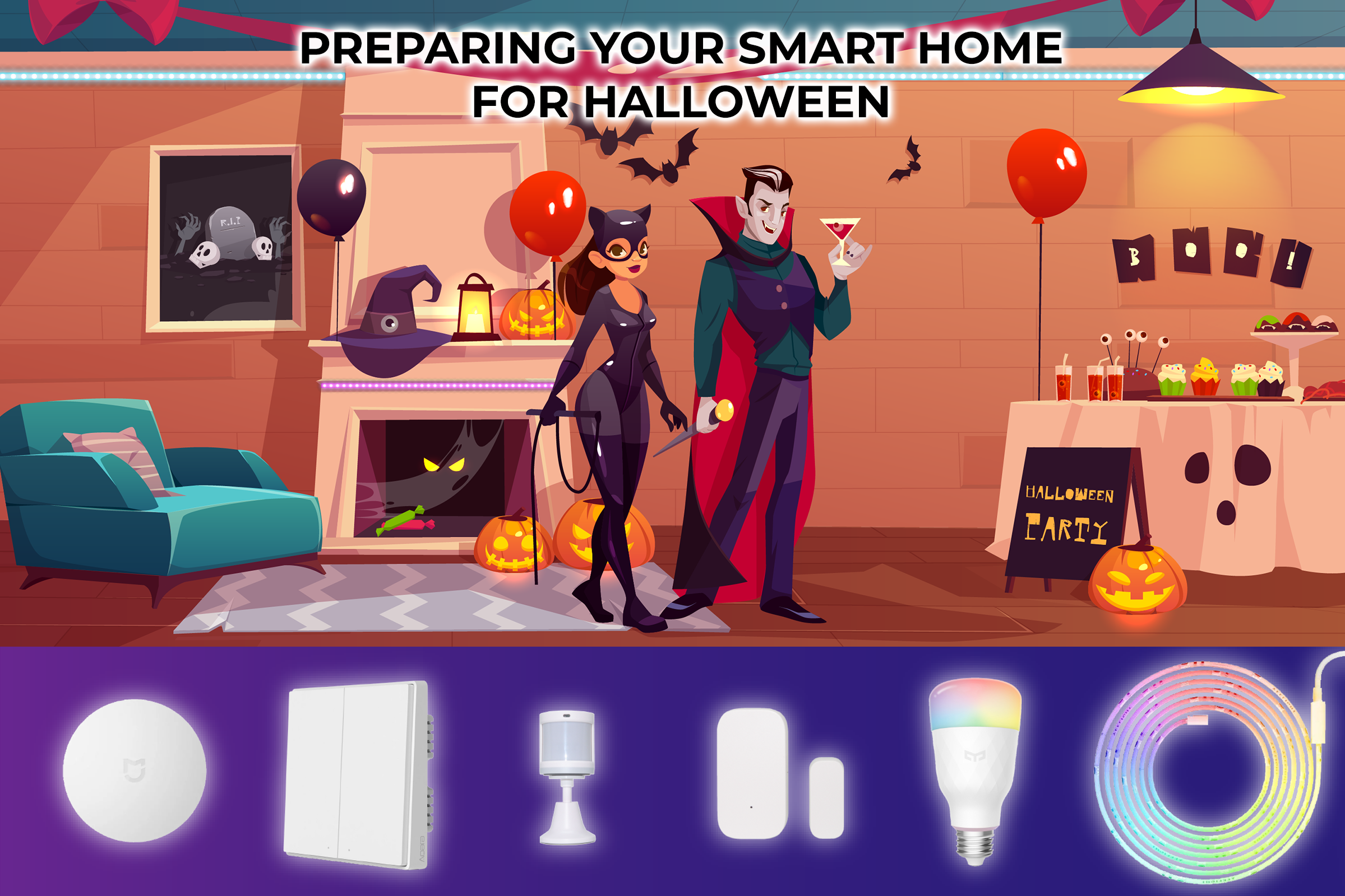 preparing your smart home for halloween